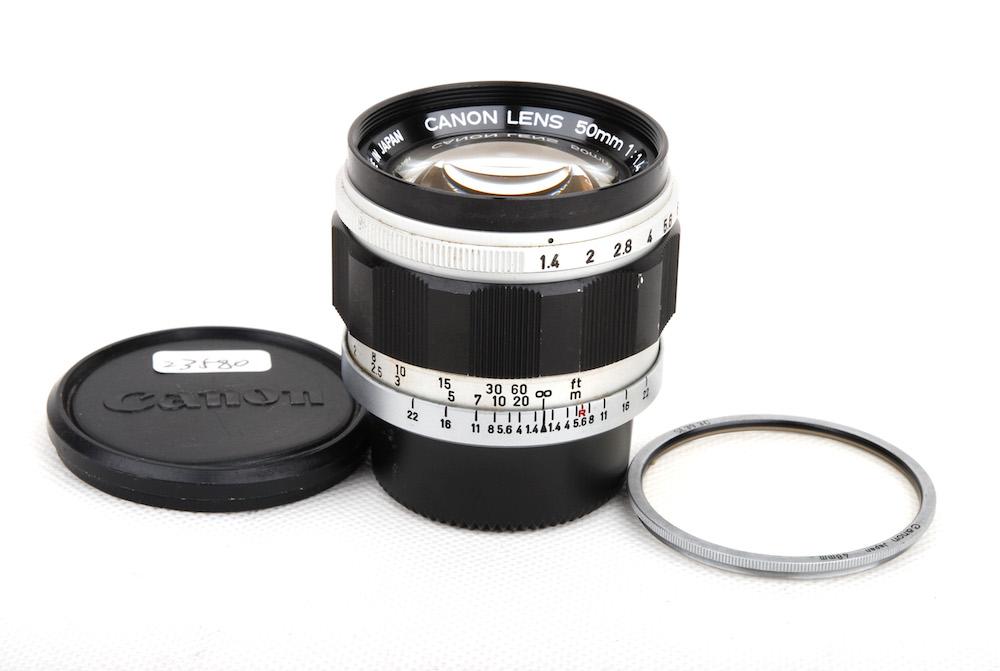 【美品】Canon/キャノン 50mm F1.4 LTM Leica L39マウント レンズ#jp23580