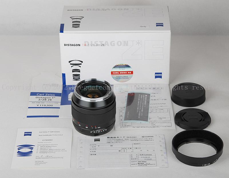 【新品】Carl Zeiss/カール・ツァイス Distagon T* 28/2 ZE レンズ フード付き #JP15035