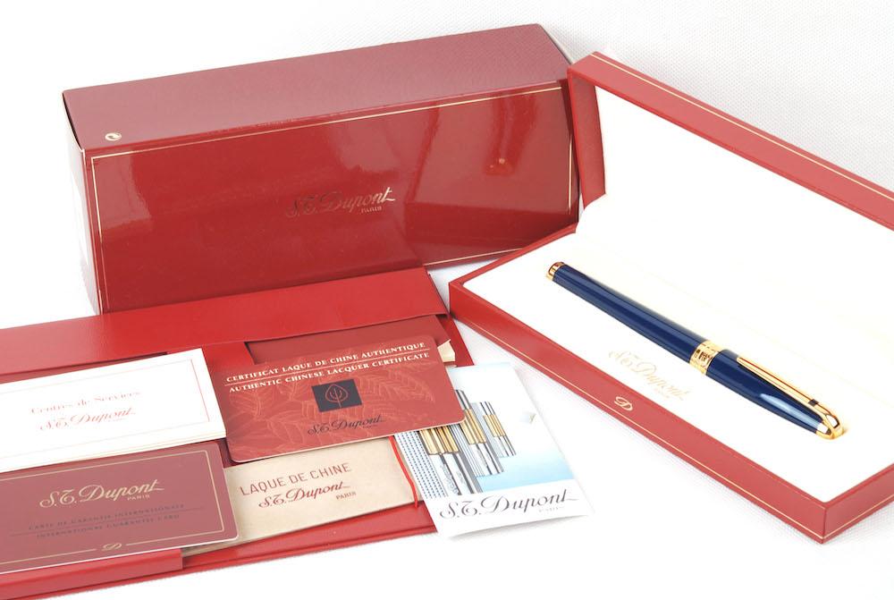 【新品】S.T. DUPONT/デュポン OLYMPIO/オリンピオ LACQUER PLUME GM PEN 481587M 中国漆 18Kゴールドダブルカラー筆先 万年筆