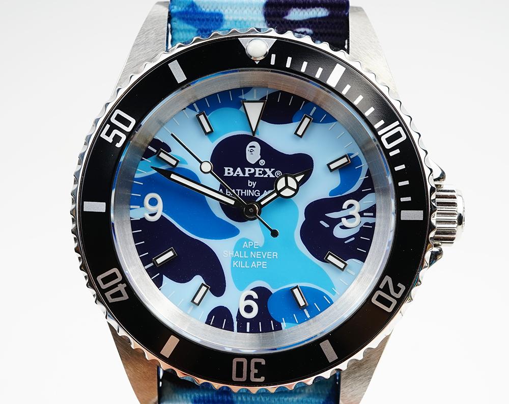 【新品】A BATHING APE/ア・ベイシング・エイプ Bapex T001シリーズ Rolex/ロレックス Submariner/サブマリーナー タイプ 40mm 自動巻き 腕時計#33793R