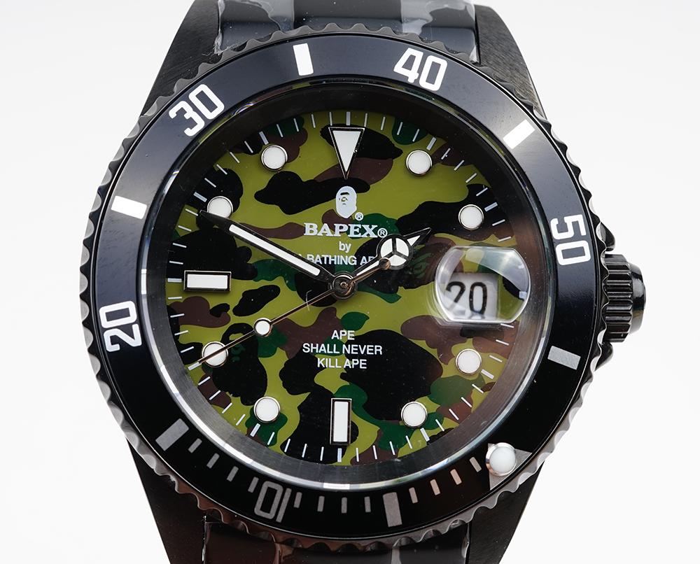 新品 A BATHING APE ア ベイシング エイプ Bapex T001シリーズ 自動巻き Rolex 激安卸販売新品 タイプ 定価 サブマリーナー 40mm Submariner ロレックス 腕時計#33793