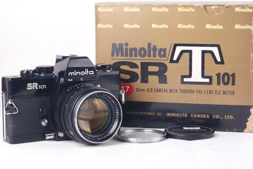 【美品】Minolta/ミノルタ SR101 Auto Rokkor-PF 58/1.4レンズ付き フィルター付き#jp20240