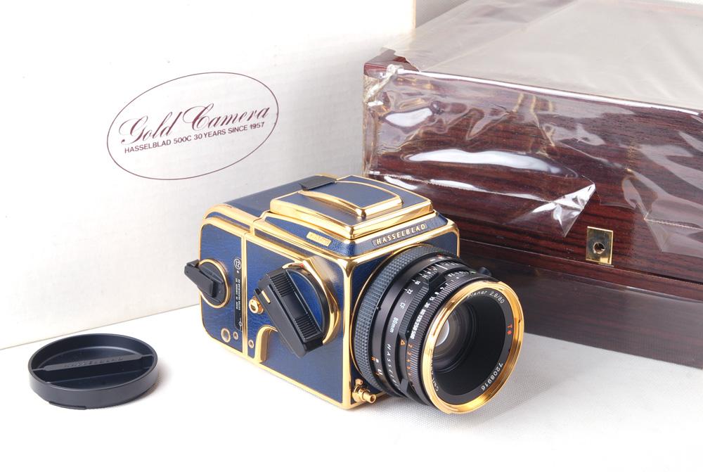 【ブルーゴールド】Hasselblad ハッセルブラッド 503cx + CF 80/2.8 +A12 【50周年記念版】 #jp19855