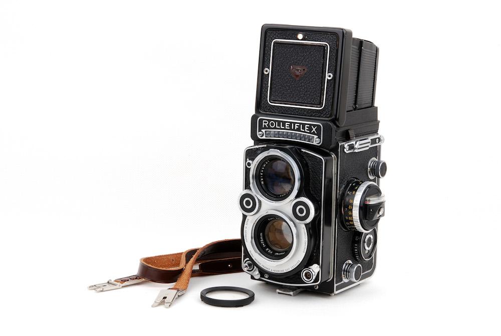 【美品】Rolleiflex/ローライ 3.5F ホワイト 二眼レフカメラ Planar 75mm F3.5レンズ付き ゴールドコーディング#jp23356