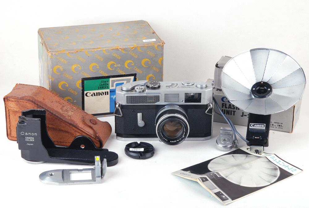 【美品】Canon/キャノン 7 50/1.8 LTM Leica L39 ライカマウントレンズ付き