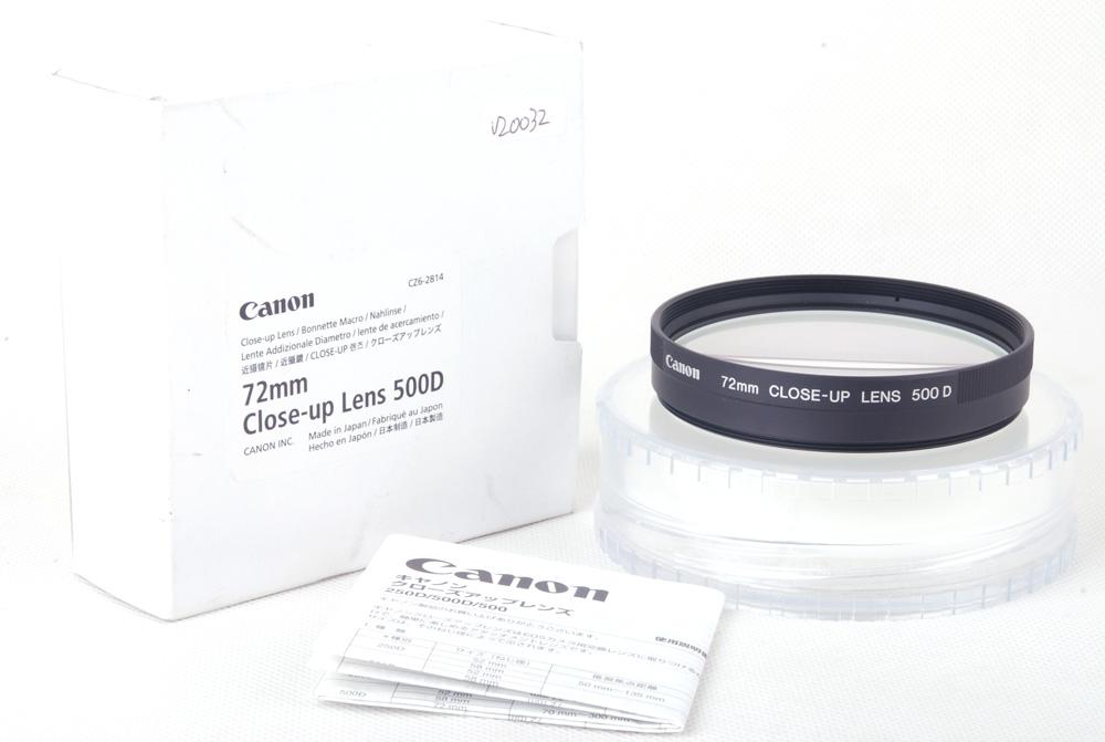【新品特価】canon/キャノン 72mm CLOSE-UP LENS 500D クローズアップレンズ#jp20032