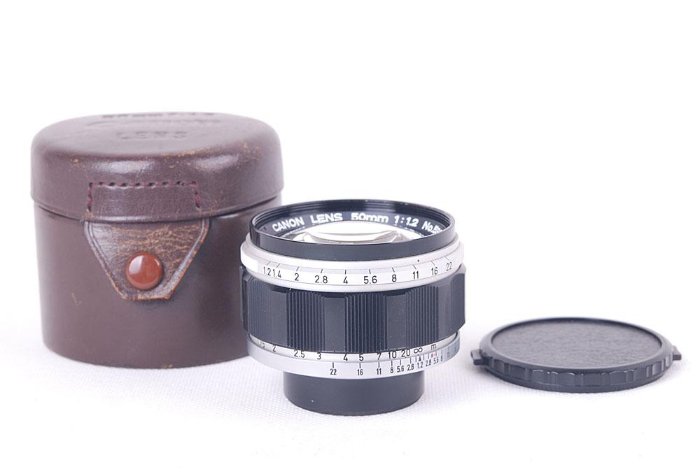 【美品】Canon/キャノン 50/1.2 L39マウント ケース付き#jp19743