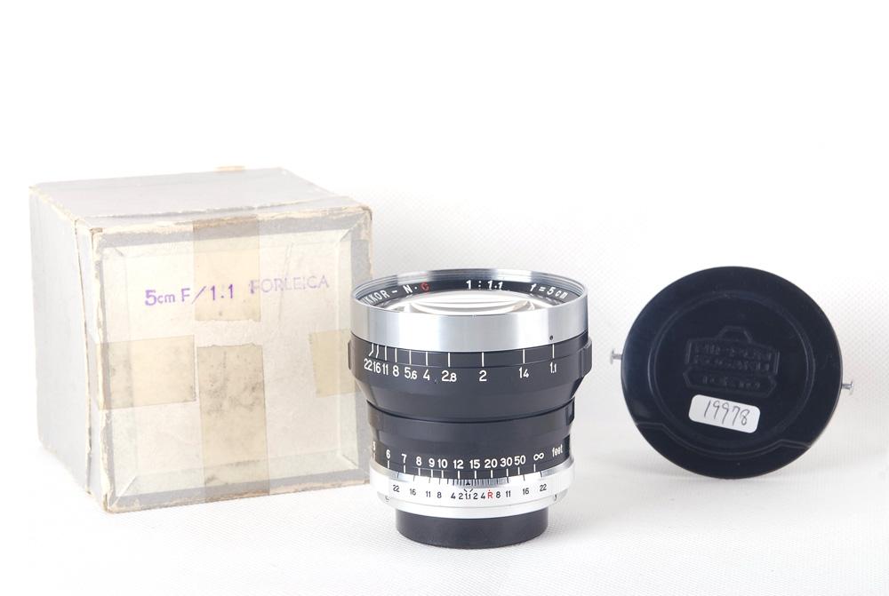 【コレクション美品】NIKON/ニコン Nikkor-N·C 50/1.1 Nippon Kogaku/日本光学 原産Leica/ライカ L39マウント箱付き#HK7859