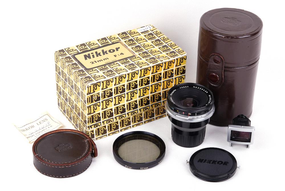 【美品】Nikon/ニコン Nippon kogaku nikkor-o 21mm F4 Fマウント 箱付き#jp21832