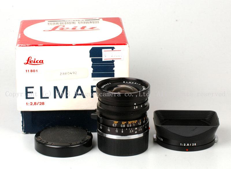 ★コレクション★ライカLeica Leitz Elmarit 28mm F2.8 第二代 フード付