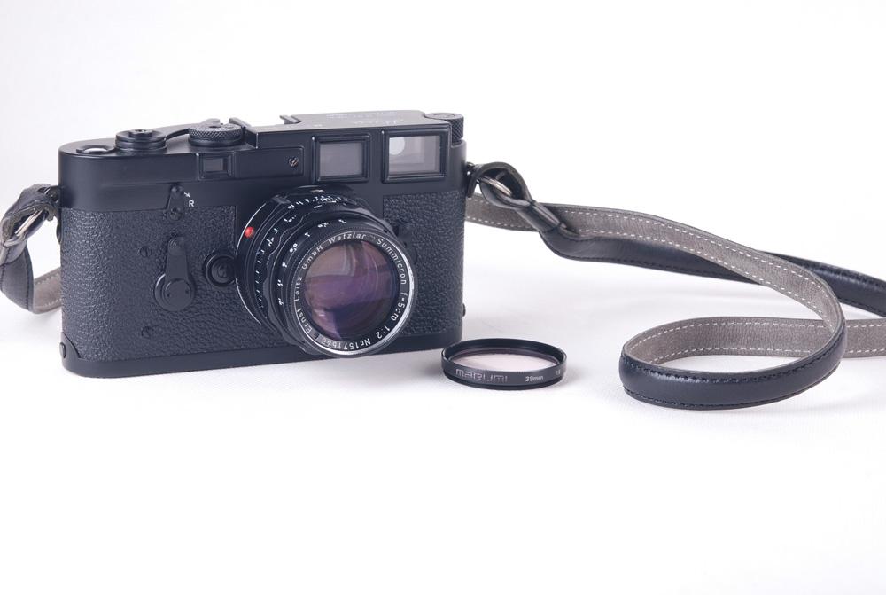 【美品】Leica/ライカ M3 ブラックボディ 後塗り summicron 50/2 DRレンズ付き フィルター付き#jp17831