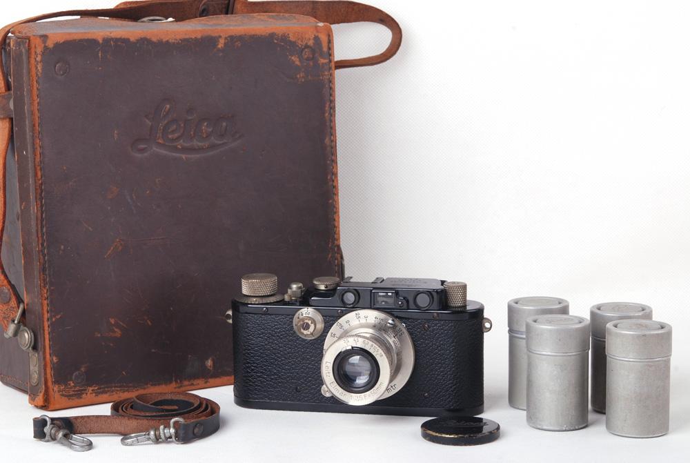 【クレクション】leica/ライカ DIII Nickel elmar 50/3.5 1934年128xxx号付き ブラックペイント#jp19766
