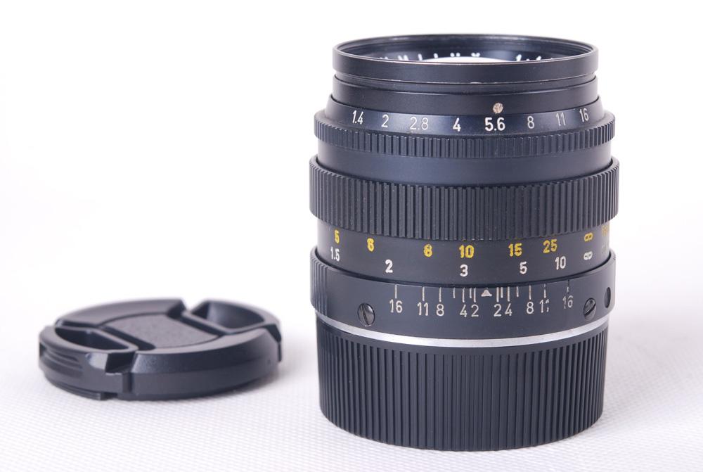 【美品】Leica/ライカ SUMMILUX-M 50/1.4 E43 ブラック第二世代ドイツ産レンズ 250号段#jp19947