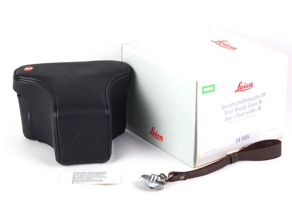 【美品】Leica/ライカ Leather Ever Ready Case M 14505 M7/MP/M6に適用 ブラック ケース#jp22383