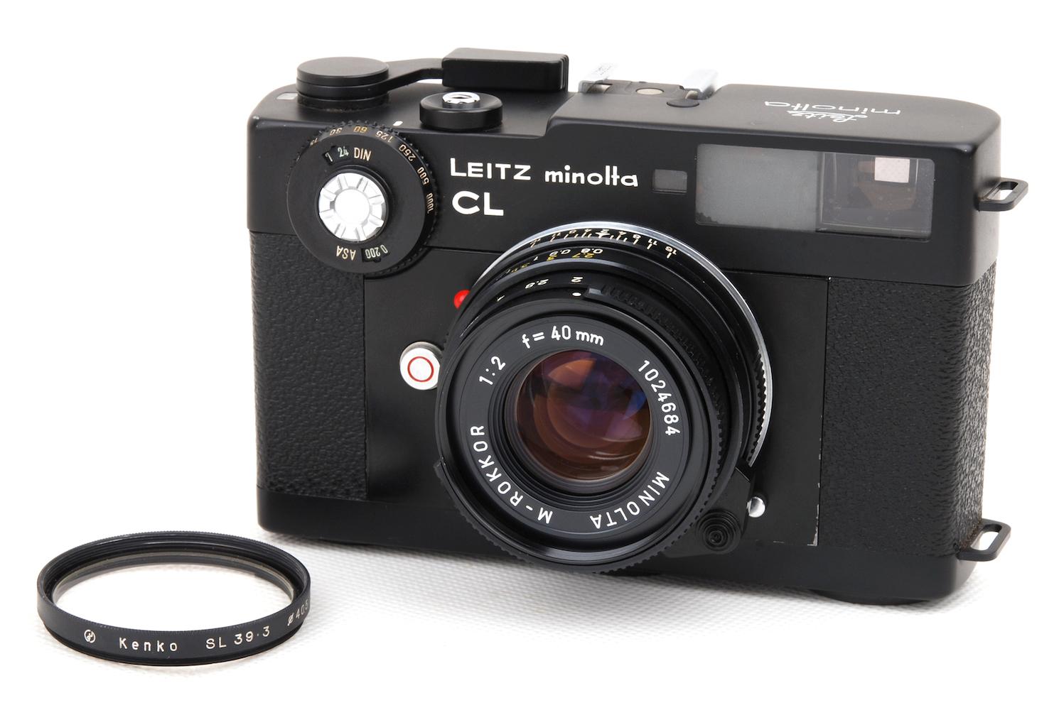 美品 Leica オリジナル ライカ leitz minolta CL #jp24379 未使用品 M-Rokkor-QF 2 レンズセット 40 +