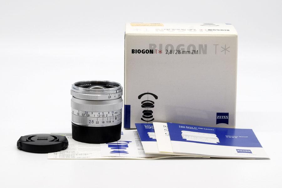 【新同品】Carl Zeiss/カールツァイス Biogon T*28/2.8 ZM レンズ#HK7766X