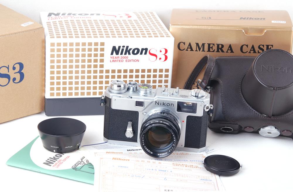 【コレクション珍品】NIKON/ニコン S3+50/1.4 2000年限定版シルバー 付属品など完備#jp19897