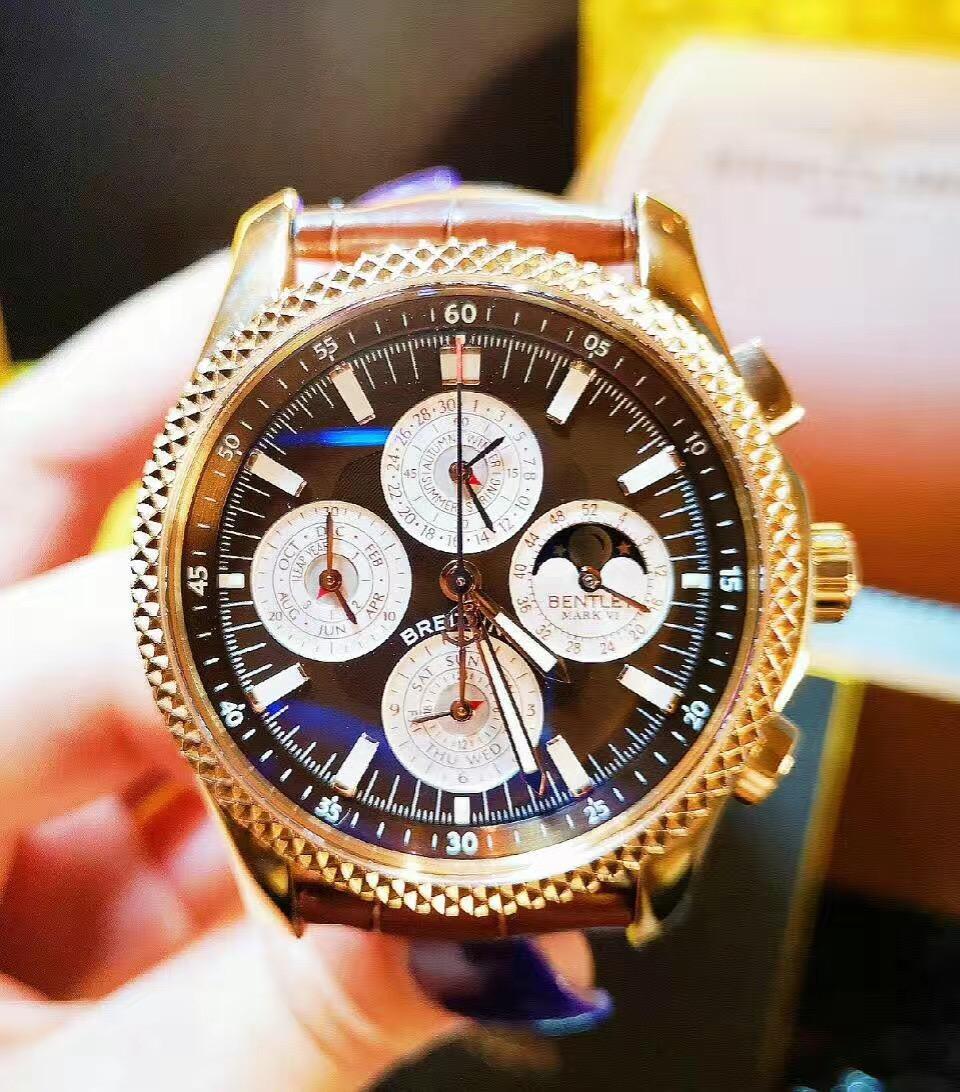 【新品】BREITLING/ブライトリング ベントレーシリーズ パーペチュアルカレンダー18Kローズゴールド42mmメンズ腕時計 H2936312/Q539 #BL10