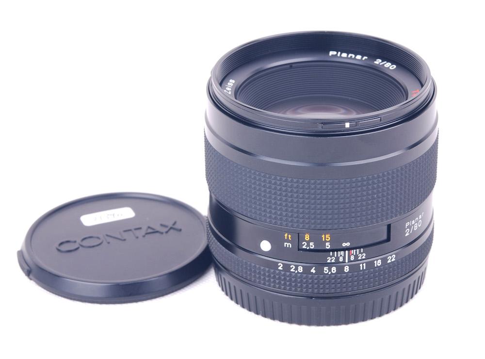 【美品】Contax/コンタックス 645用 Planar AF 80/2 T* 標準レンズ #jp21390