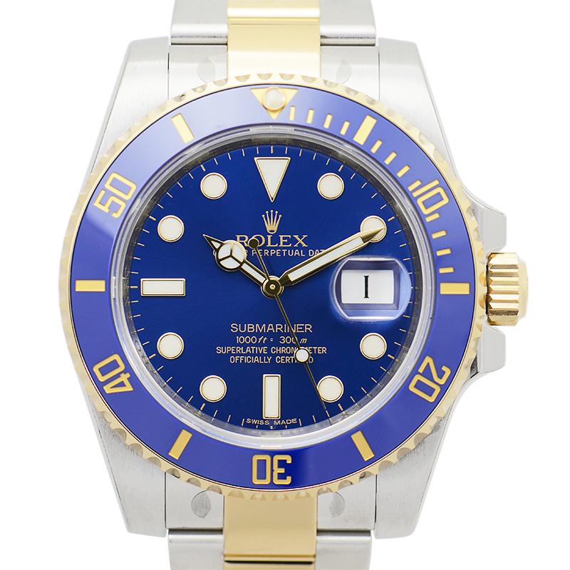 【全新】ROLEX/ロレックス サブマリーナーデイト ブルー 自動巻き 116613LB 腕時計 #HKRX02
