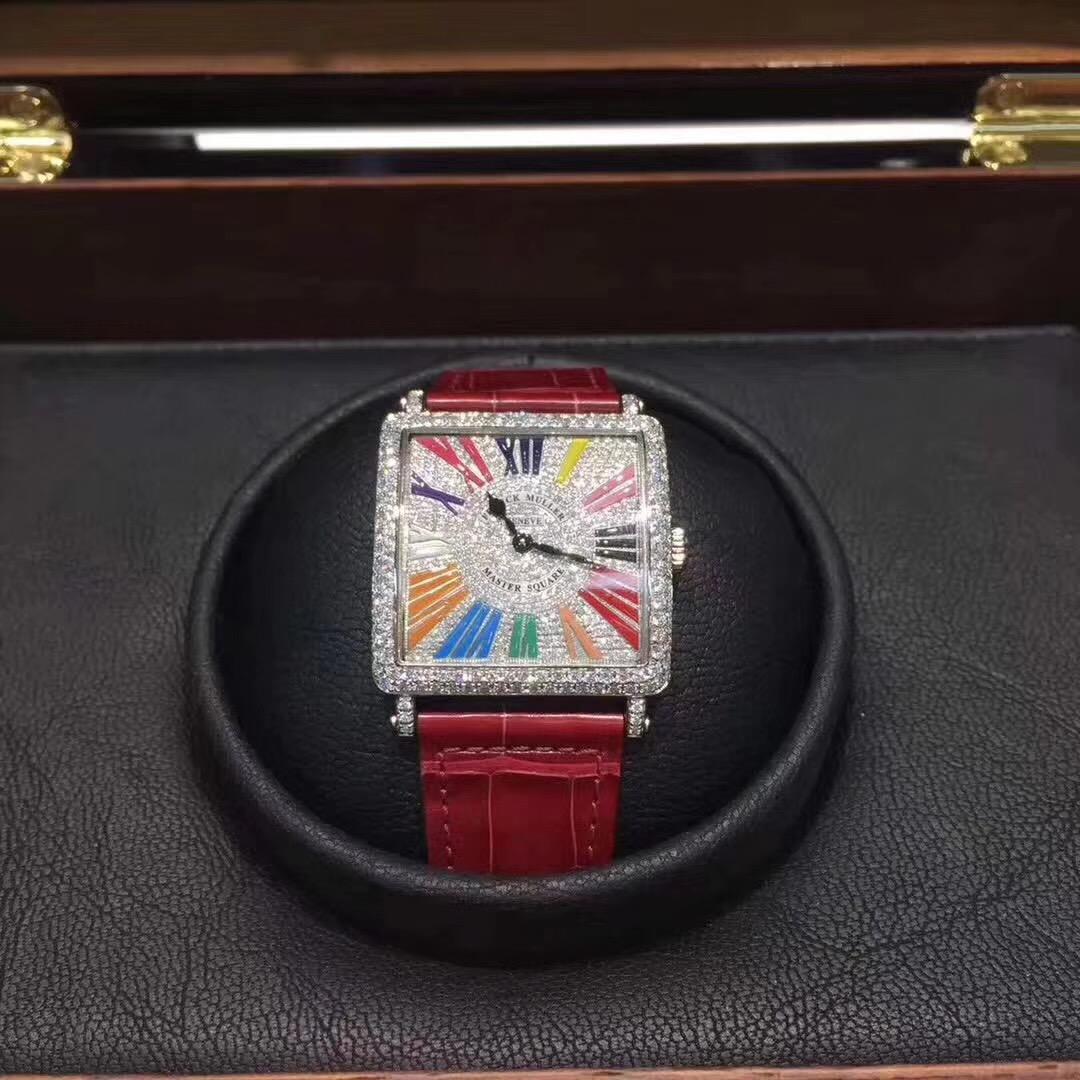 【新品】FRANCK MULLERフランク・ミュラー FM 6002 マスタースクエア・カラードリーム34x34mmレディース腕時計 #X00764