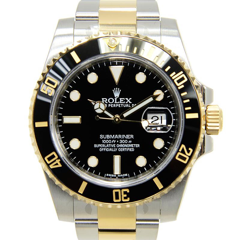 【全新】ROLEX/ロレックス サブマリーナー デイト ブラック 自動巻き 116613LN 腕時計 #HKRX03