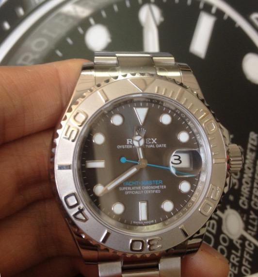 【全新】ROLEX/ロレックス ヨットマスターシリーズ116622 40オイスタースチール&プラチナ メンズ 腕時計 #HKRX05