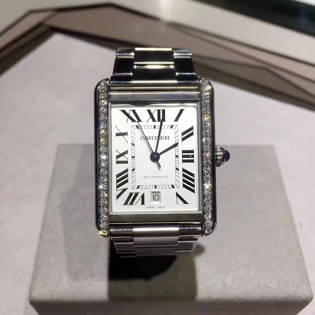 【カルティエ】タンクシリーズ W5200028自動巻き 腕時計#KP1069