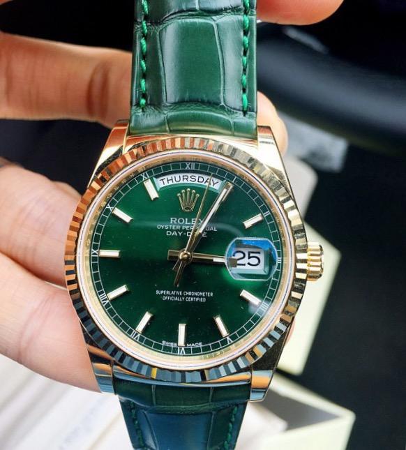 【全新】ROLEX/ロレックス デイデイトシリーズ118138-L(FC)グリーン腕時計 #HKRX01