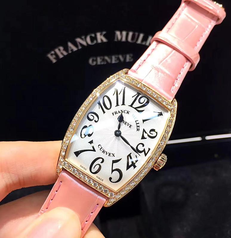 【フランク・ミュラー】KM2852,18Kピンクゴールド ブラック数字文字盤レディース腕時計#KP1025