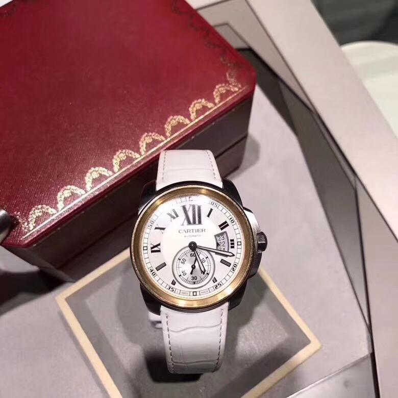 【カルティエ】カリブル ドゥ W7100039自動巻き42mm-18Kピンクゴールド腕時計#KP1029
