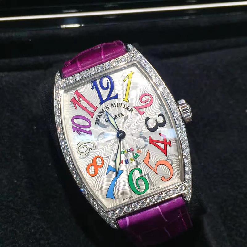 【フランク・ミュラー】FM2852 ダイヤ クォーツ43×32mm腕時計#KP1030