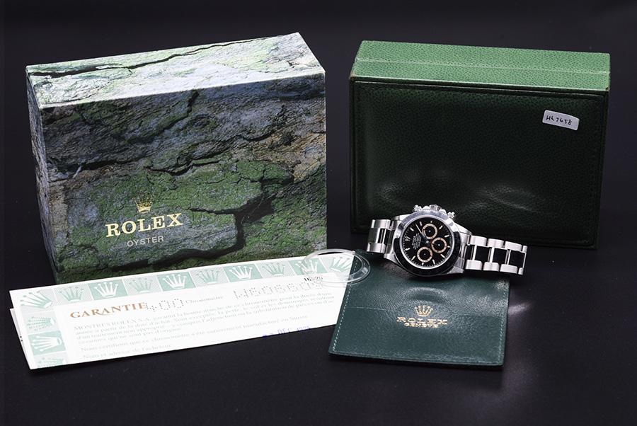 値下げ【コレクション新品】Rolex/ロレックスコスモグラフ デイトナ 16520 黒文字盤 腕時計