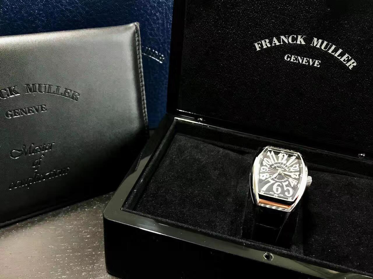 【新品】FRANCK MULLER/フランクミュラー V32 SC AT FO AC NR ホワイトスチール ブラック文字盤 自動巻きレーディス腕時計 #FM0017