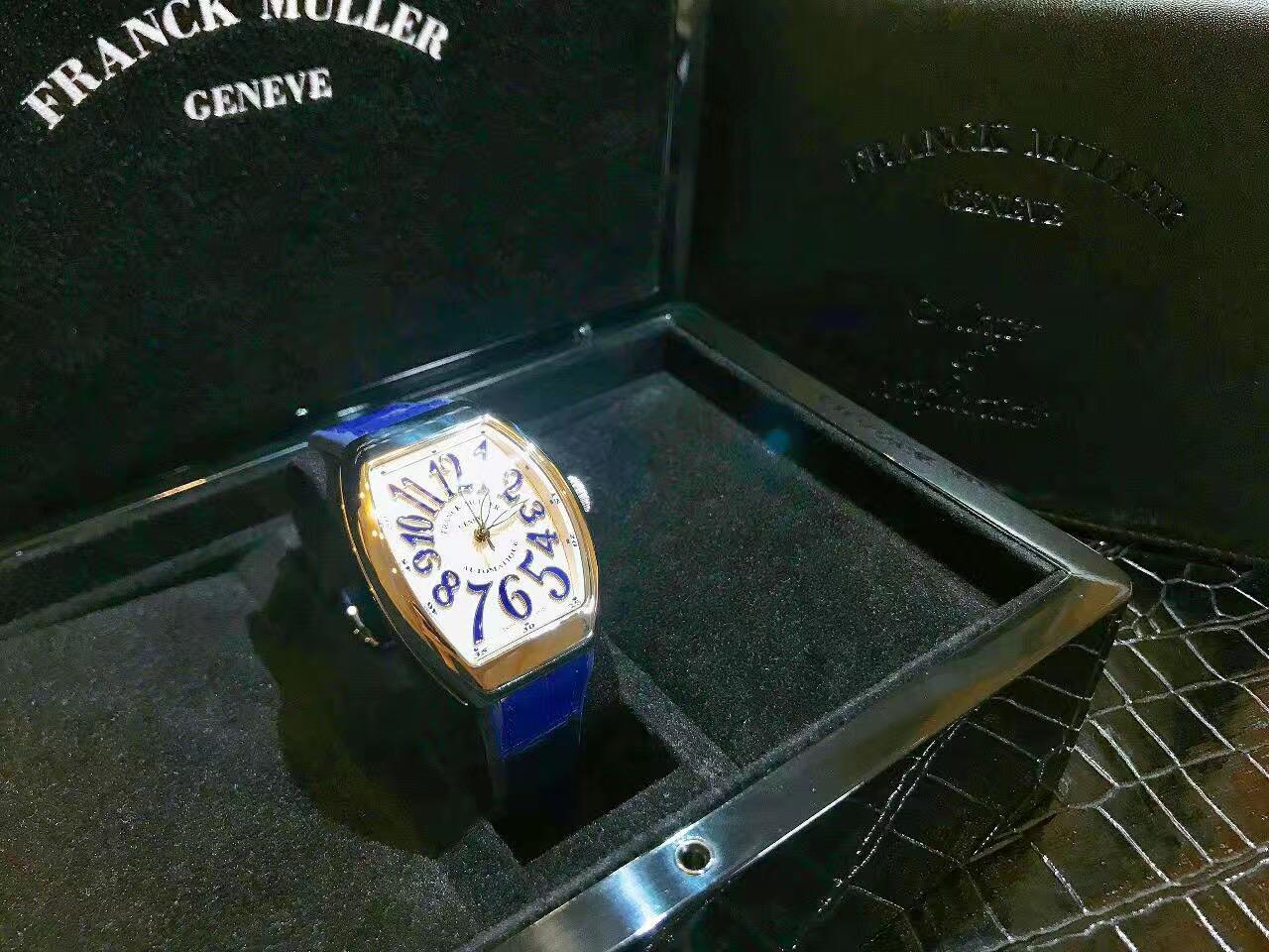 【新品】FRANCK MULLER/フランクミュラー V32 SC AT FO AC BU ホワイトスチール ブルー 自動巻きレーディス腕時計 #FM0016