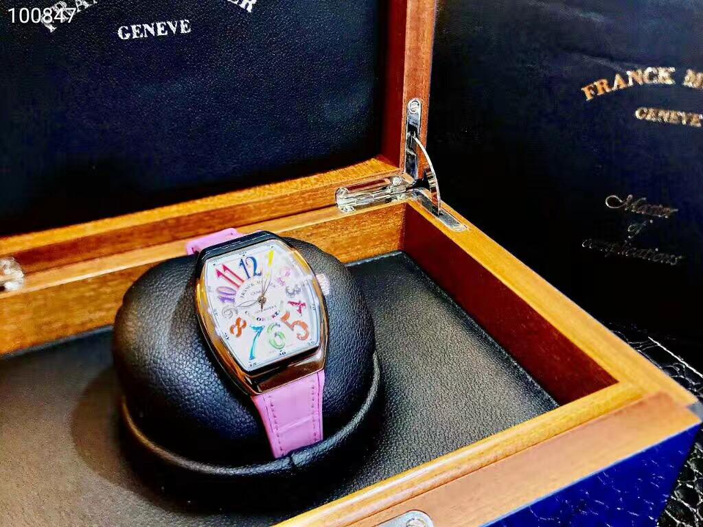 【新品】FRANCK MULLER/フランクミュラー V32 SC AT FO COL DRM AC RS ホワイトスチール カラーフル自動巻きレーディス腕時計 #FM0014