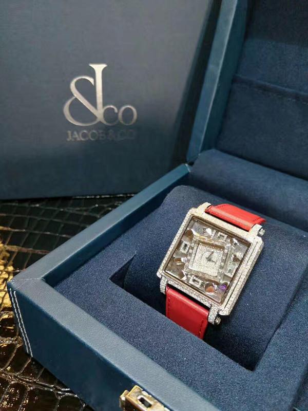 【新品】Jacob&Co/ジェイコブ MANSSB T形ダイヤモンドベゼル レーディス腕時計 38x38mm 新品セット#HKJC097