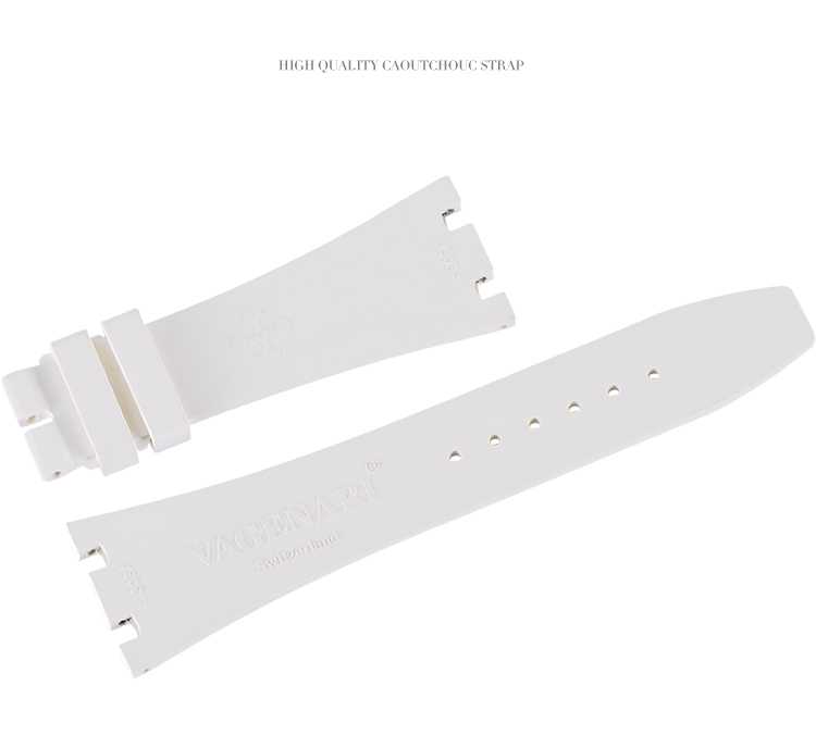 Vagenari ロイヤルオークAP 15400 15300 26320 26331 41MMに適用 ラバー ストラップ/ベルト ホワイト