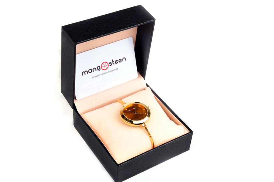 【新品】Mangosteen/マンゴスチン MS-503Bゴールド 韓流 クォーツ腕時計