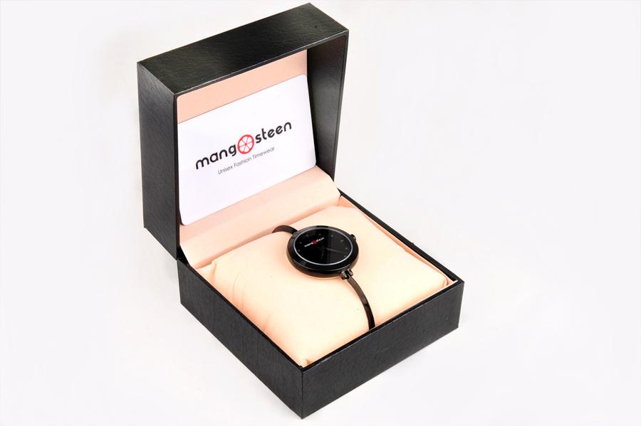 【新品】Mangosteen/マンゴスチン MS-503D ブラック 韓流 クォーツ腕時計
