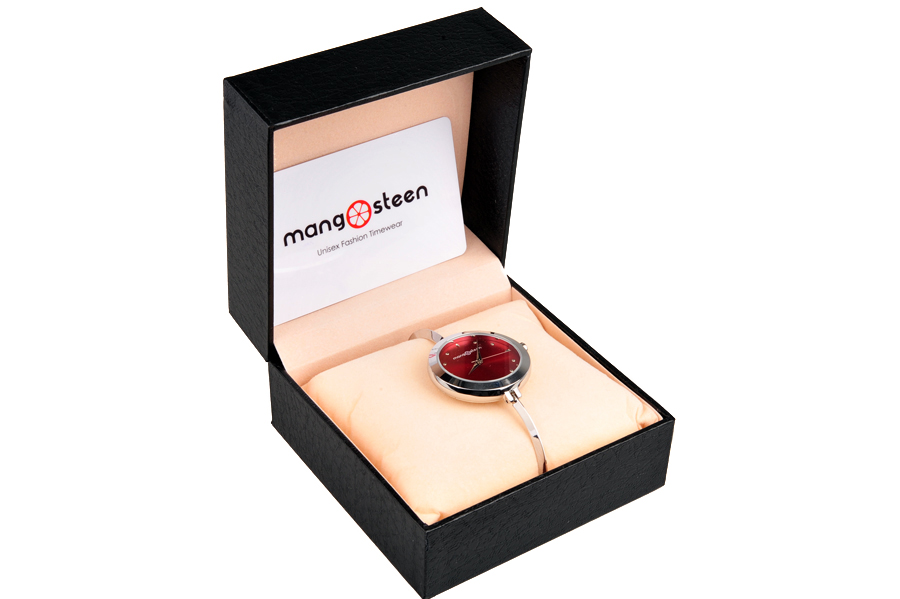 【新品】Mangosteen/マンゴスチン MS-503A レッド 韓流 クォーツ腕時計