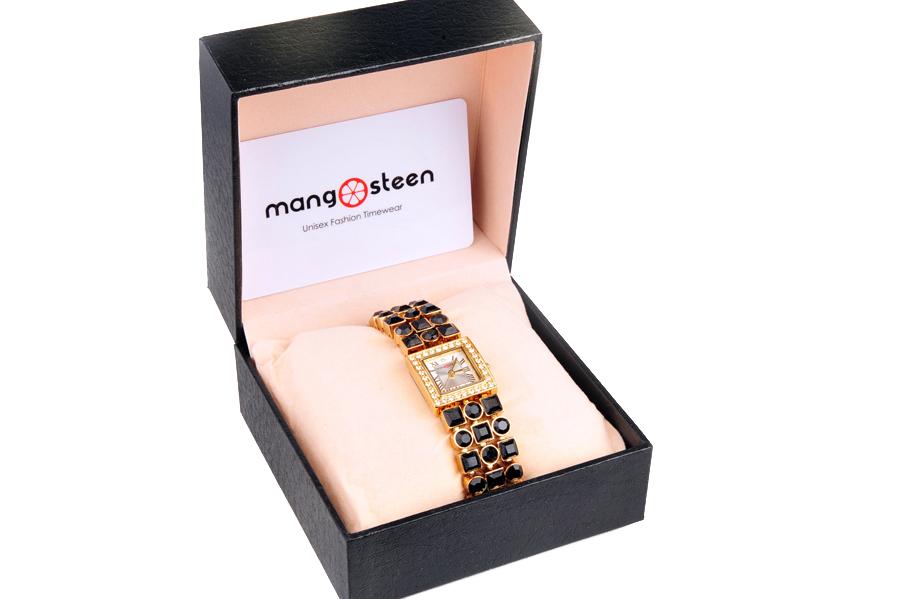 【新品】Mangosteen/マンゴスチン MS-516B ゴールド 韓流 クォーツ腕時計