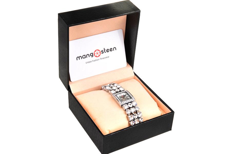 【新品】Mangosteen/マンゴスチン MS-516A シルバー 韓流 クォーツ腕時計