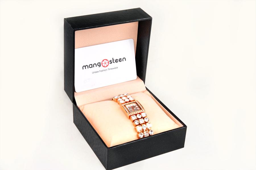 【新品】Mangosteenマンゴスチン MS-516C ピンク 韓流 クォーツ腕時計