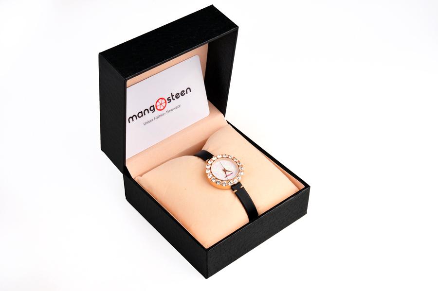 【新品】Mangosteen/マンゴスチン MS-512G桜色 韓流 クォーツ腕時計