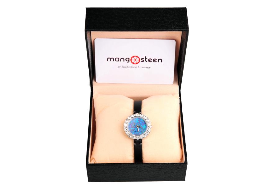 【新品】Mangosteen/マンゴスチン MS512E ブルー 韓流 クォーツ腕時計