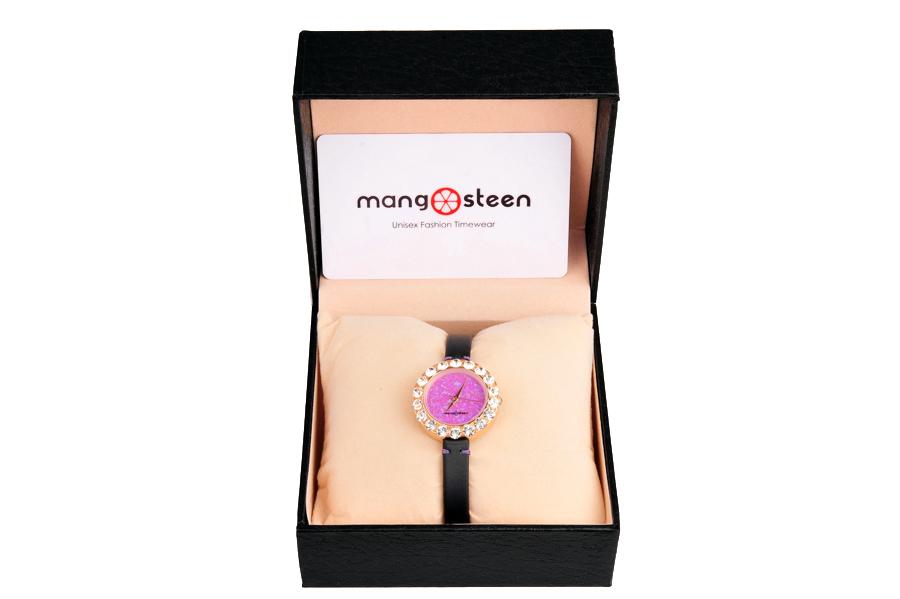 【新品】Mangosteen/マンゴスチン MS512C 紫色 韓流 クォーツ腕時計