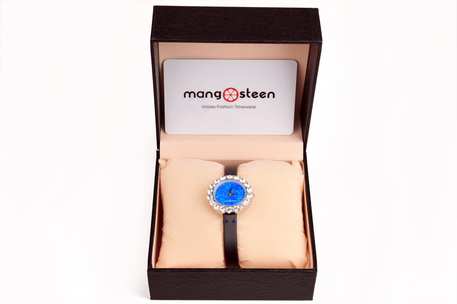 【新品】Mangosteen/マンゴスチン MS512B 紺青 韓流 クォーツ腕時計