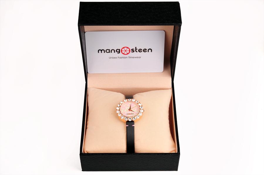 【新品】Mangosteen/マンゴスチン MS512F ピンク 韓流 クォーツ腕時計