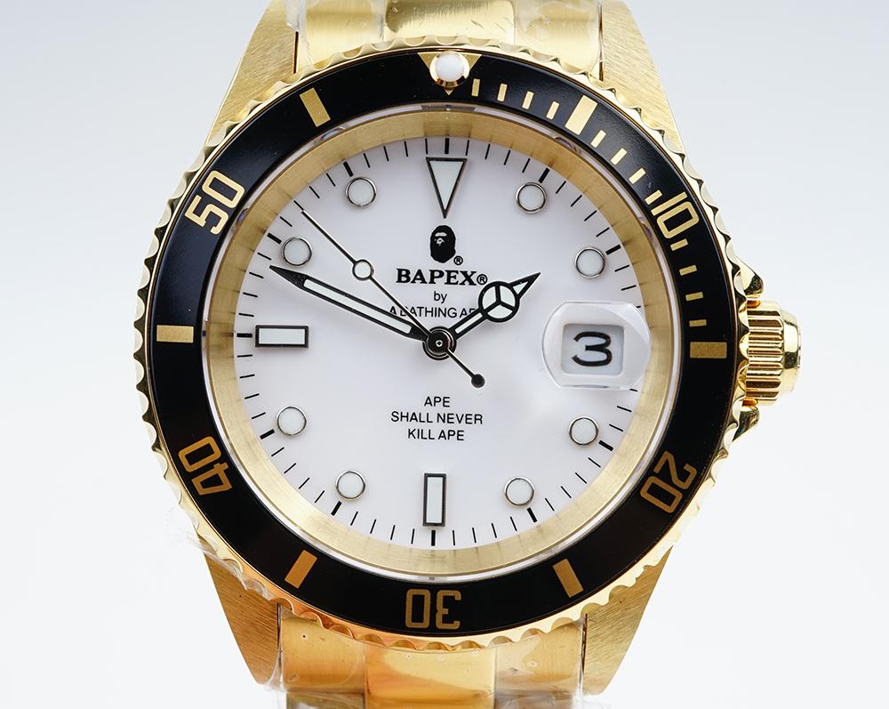 PE/ア・ベイシング・エイプ Bapex T001シリーズ Rolex/ロレックス Submariner/サブマリーナー タイプ 40mm 自動巻き 腕時計#33890